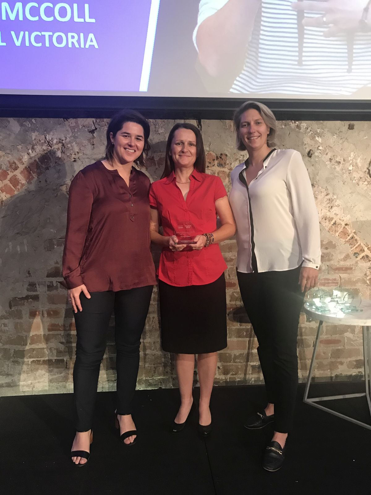 FFA GM Women's Football Sarah Walsh, Louise McColl and Head of Community, Football Development and Women's Football Emma Highwood