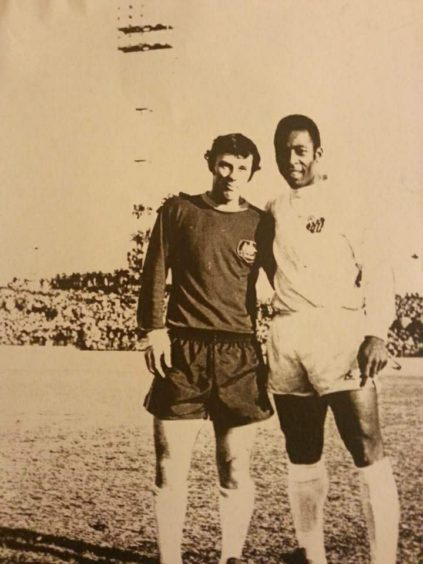 Jimmy Rooney and Pele