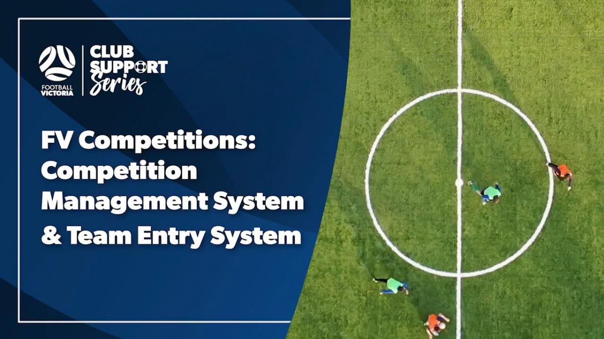 Club Support Series: Competitions: Systems & Team Entry